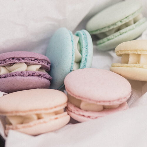 Pastel Macaron Treats by Post