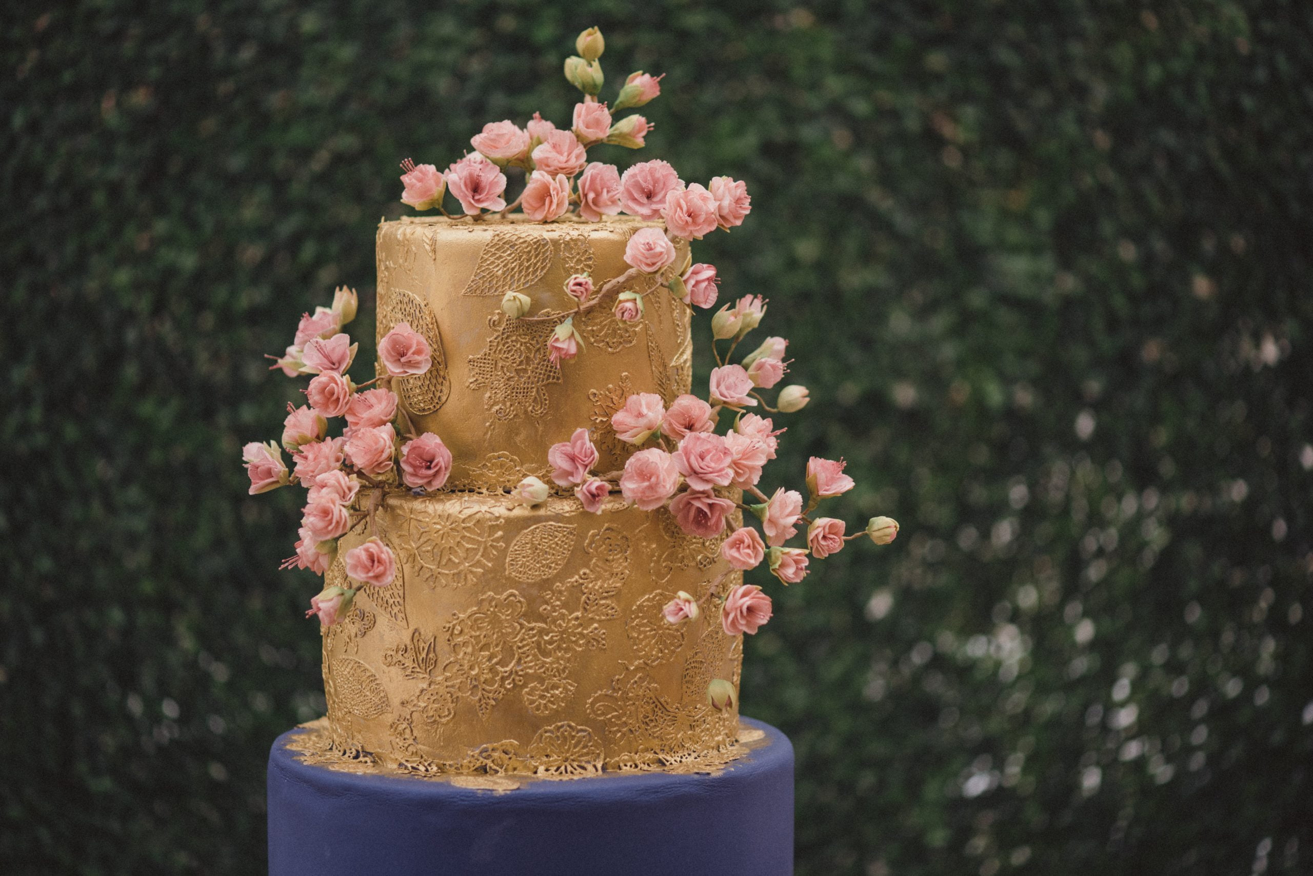 Bluebell Kitchen Cherry Blossom Wedding Cake