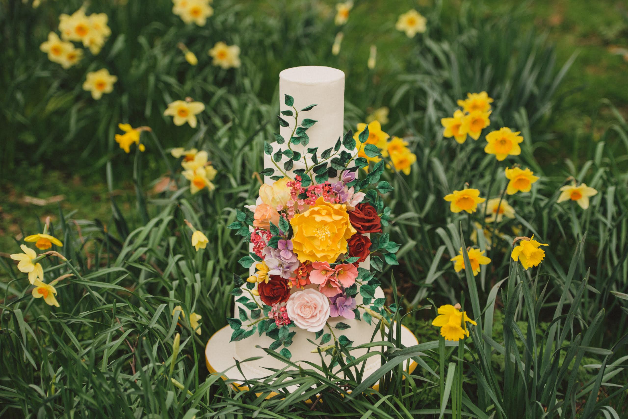 Bluebell Kitchen bold bright sugar flowers in Spring