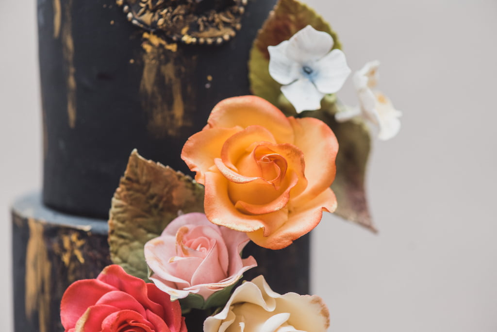 Bluebell Kitchen Bright Bold Blooms Orange and Pink Sugar Roses