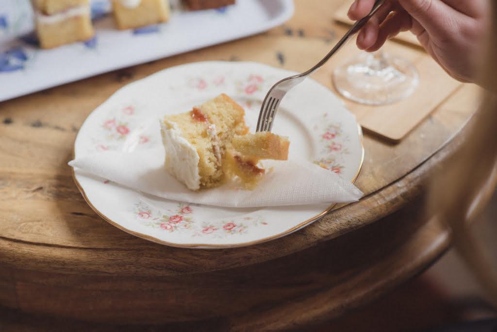 Bluebell Kitchen Kent Wedding Cake Tasting Consultation Eating Some Cake