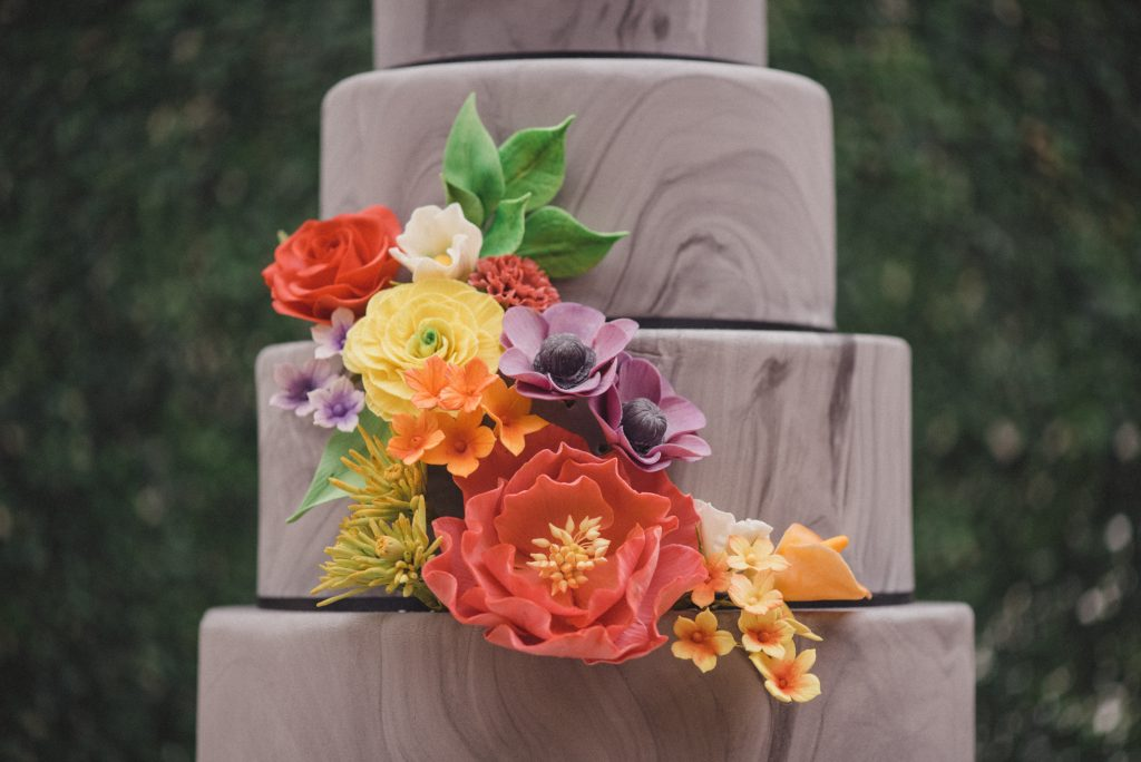 Bluebell Kitchen marble wedding cake