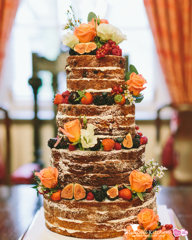 Fresh Fruit and Flowers Naked Cake