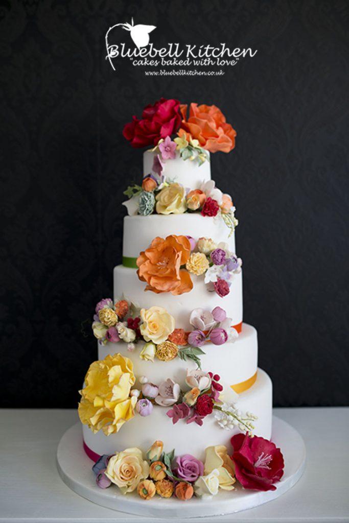 Bluebell Kitchen Handmade Sugar Flowers Wedding Cake