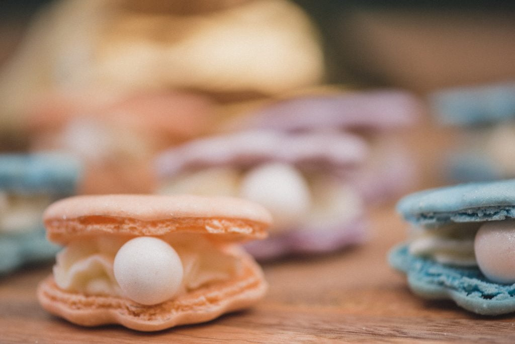 Bluebell Kitchen oyster macarons