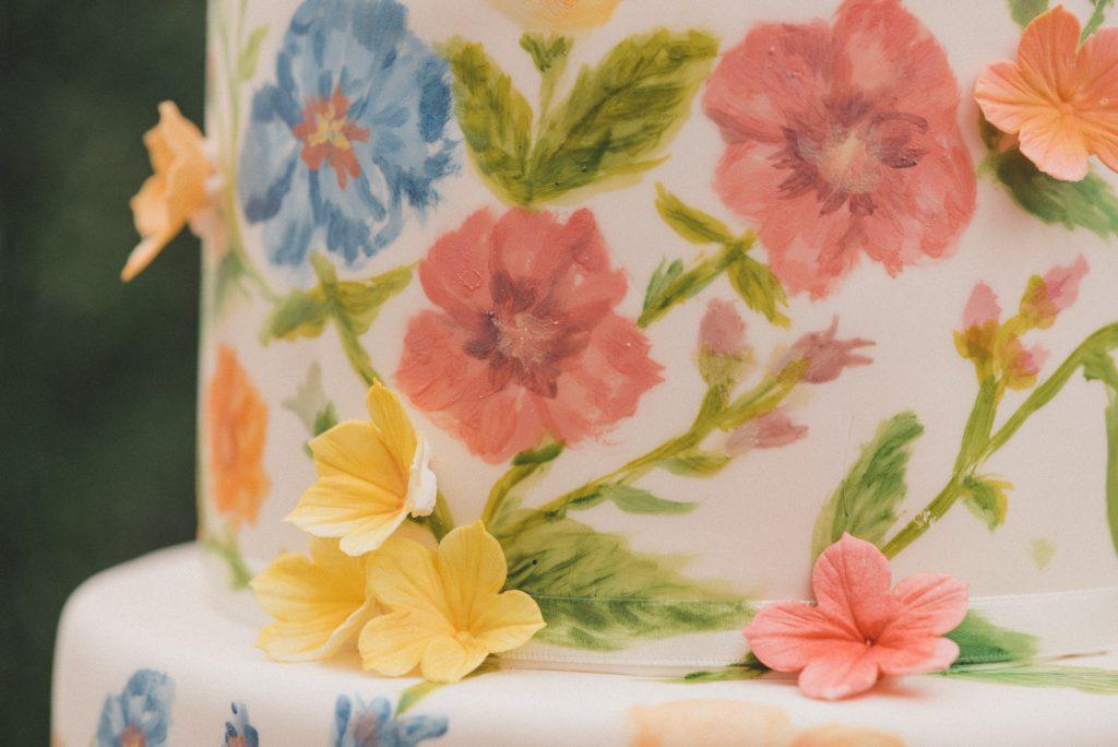 Bluebell Kitchen painted wedding cake