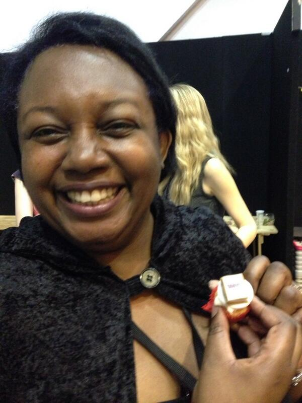 The amazing Malorie Blackman at the YALC Party (photo from Twitter taken by Annie Eaton)