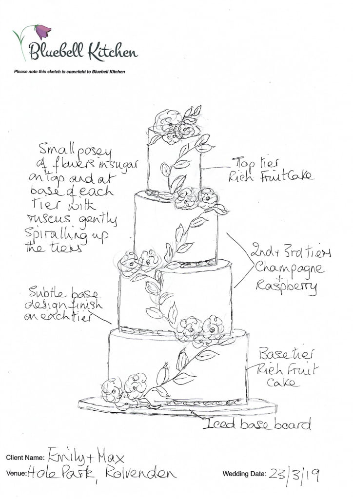 Wedding Cake Sketch