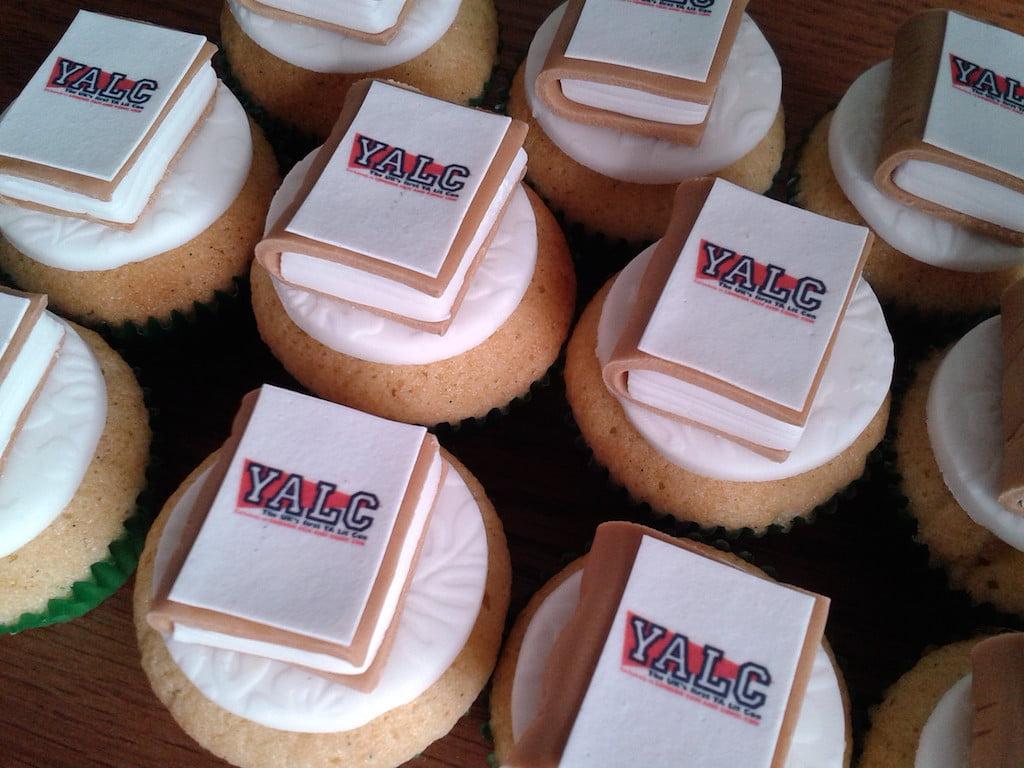 mini edible book cupcakes
