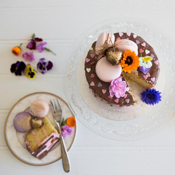 Bluebell Kitchen sponge chocolate drip cake