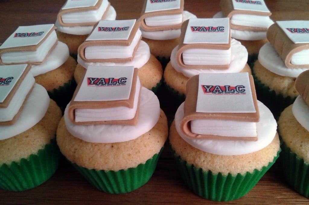 YALC 2014 Mini Edible Book Cupcakes