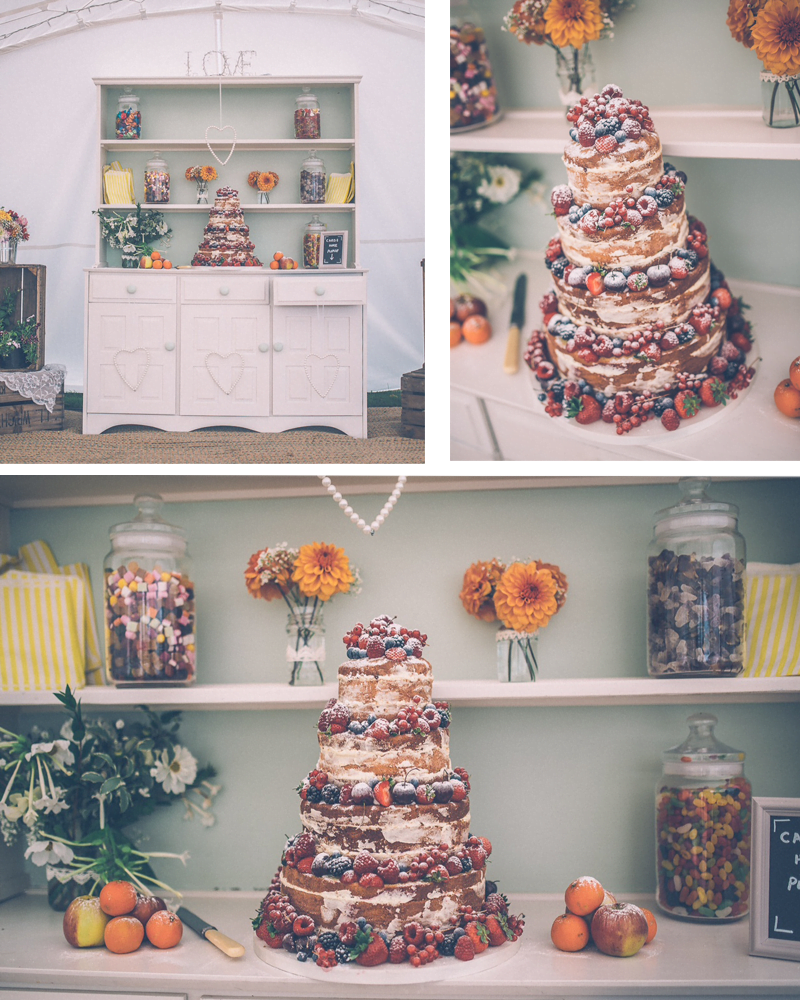 Vintage style photos of Naked Wedding Cake kindly provided by the Victoria and Chris