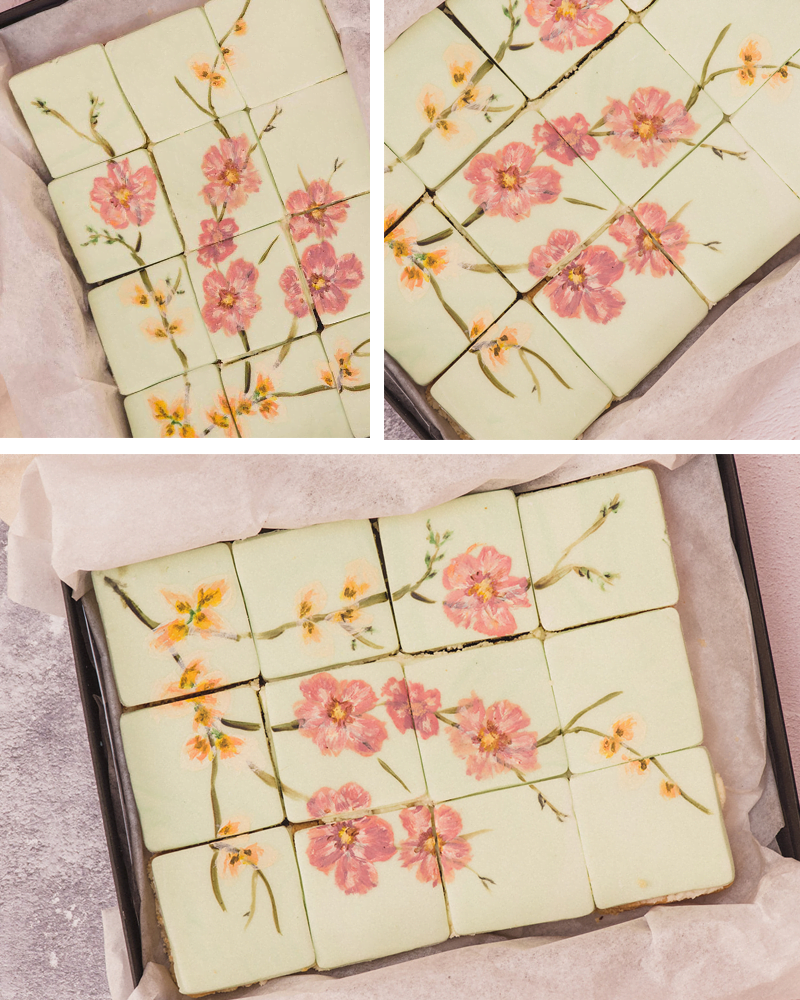 Hand painted cherry blossom designed sponge cake. Perfect for Mother's Day gift ideas