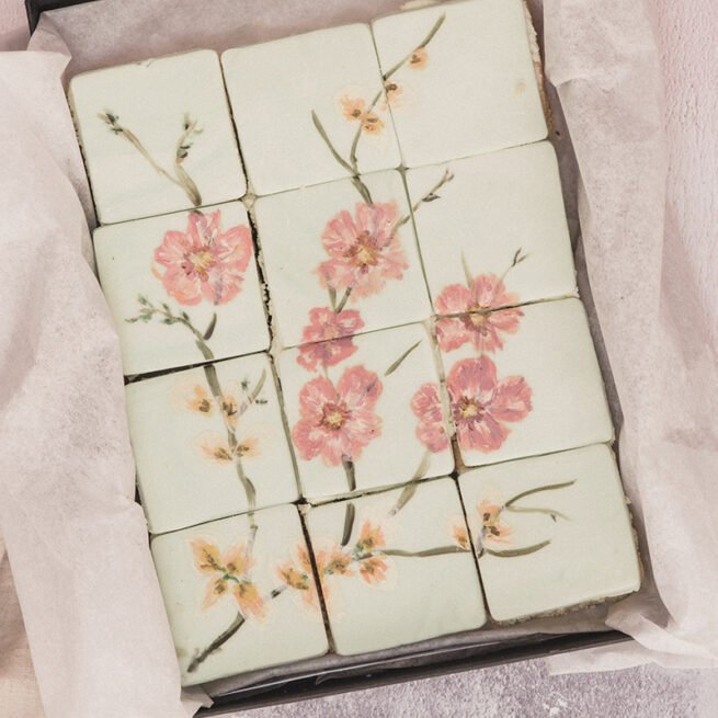Mother's Day cakes all hand painted cherry blossoms delivered to you